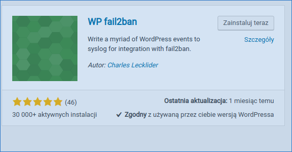 fail2ba wordpress instalation