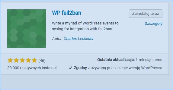 fail2ba wordpress instalation